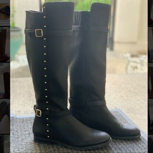 INC Ameliee Leather Knee High Riding Boots